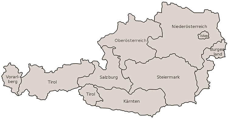 Gree Klimaanlagen Österreich Karte